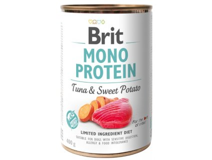 Brit Mono Protein Tuna & Sweet Potato 400g 3+1 ZDARMA