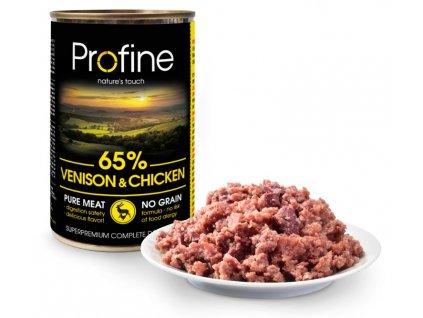 Profine Pure meat Venison & Chicken 400g 3+1 ZDARMA