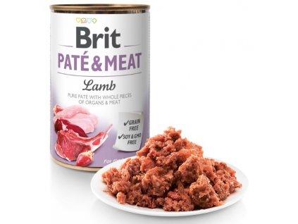 Brit Paté & Meat Lamb 800g 5+1 ZDARMA