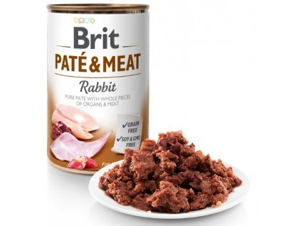 Brit Paté & Meat Rabbit 800g 5+1 ZDARMA