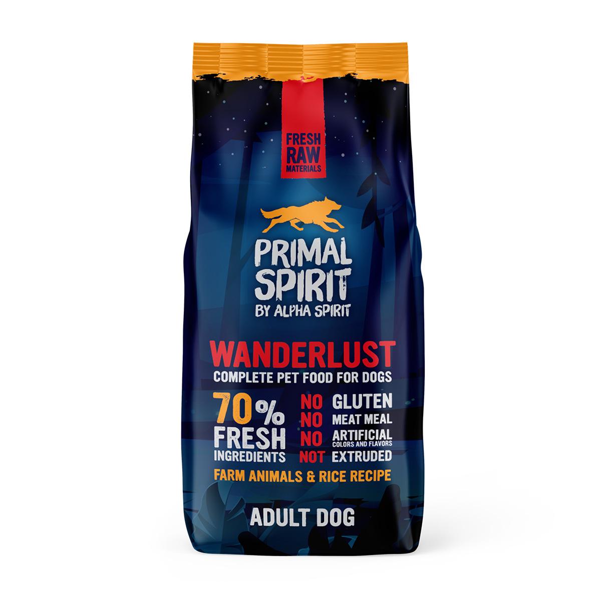 Primal Spirit Dog 70% Wanderlust 12 kg