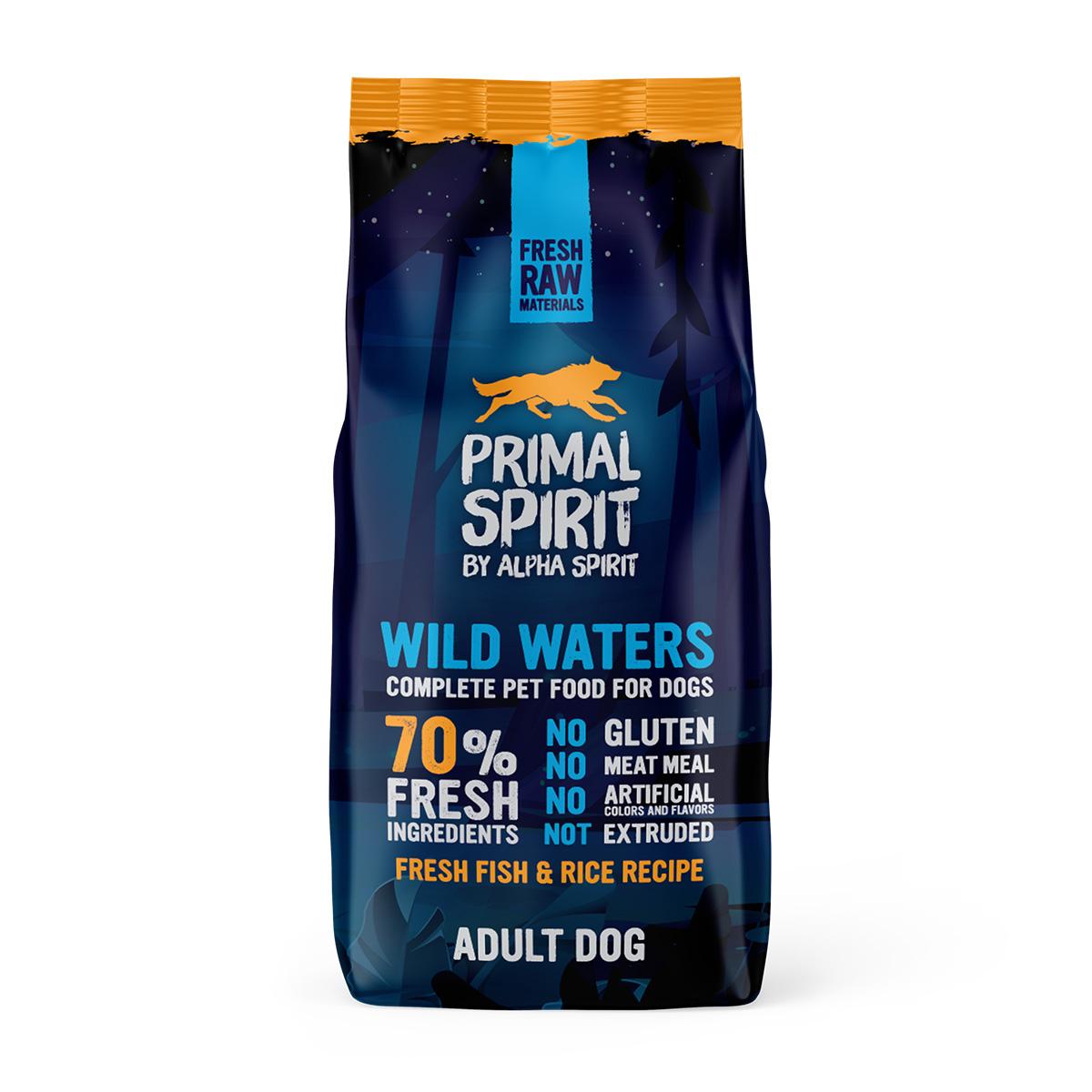 Primal Spirit Dog 70% Wild Waters 12 kg