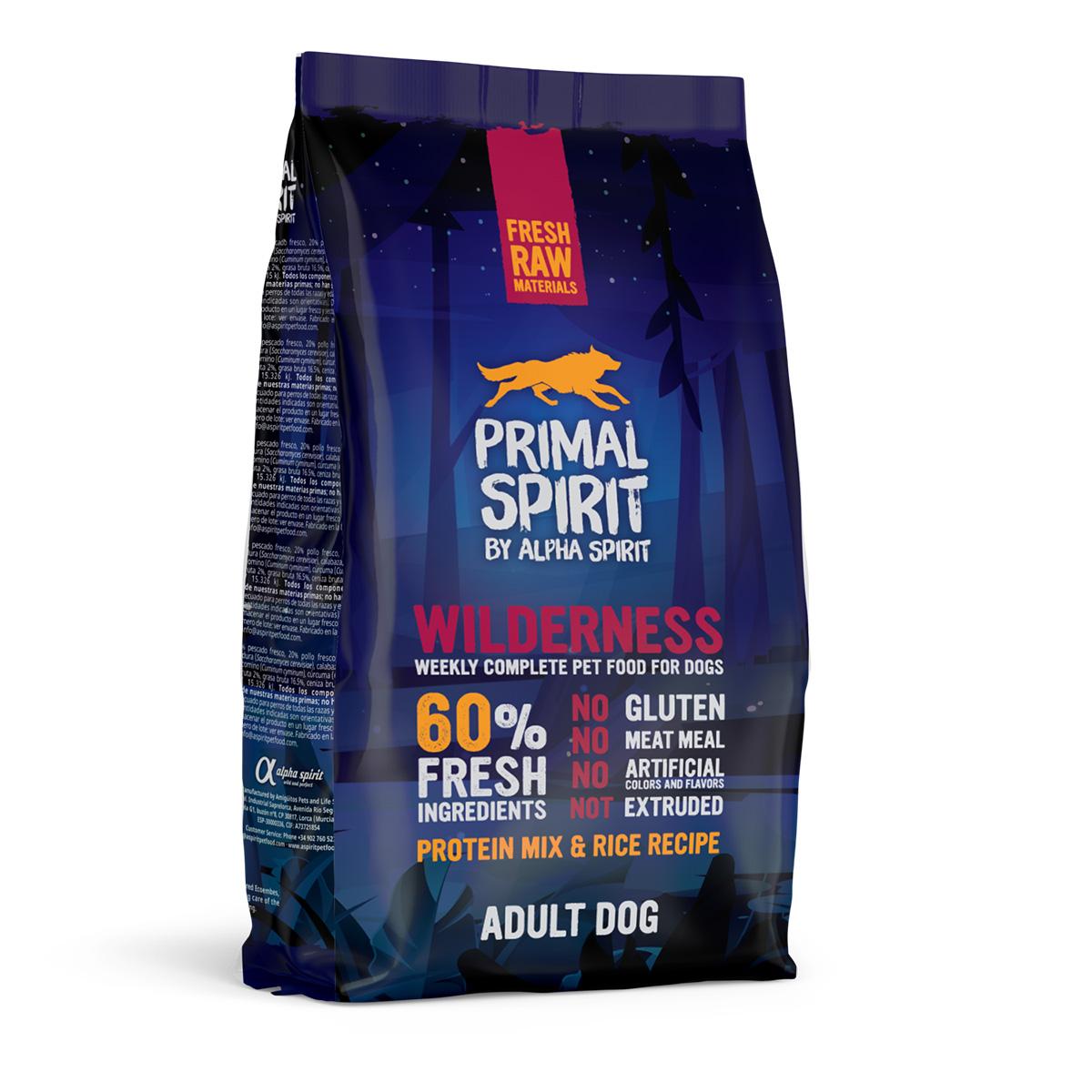 Primal Spirit Dog 60% Wilderness 1 kg