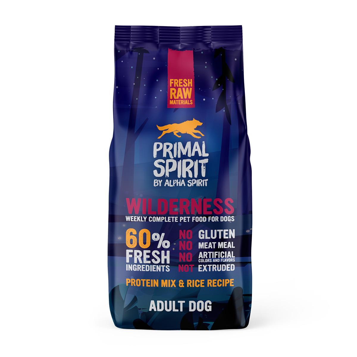 Primal Spirit Dog 60% Wilderness 12 kg