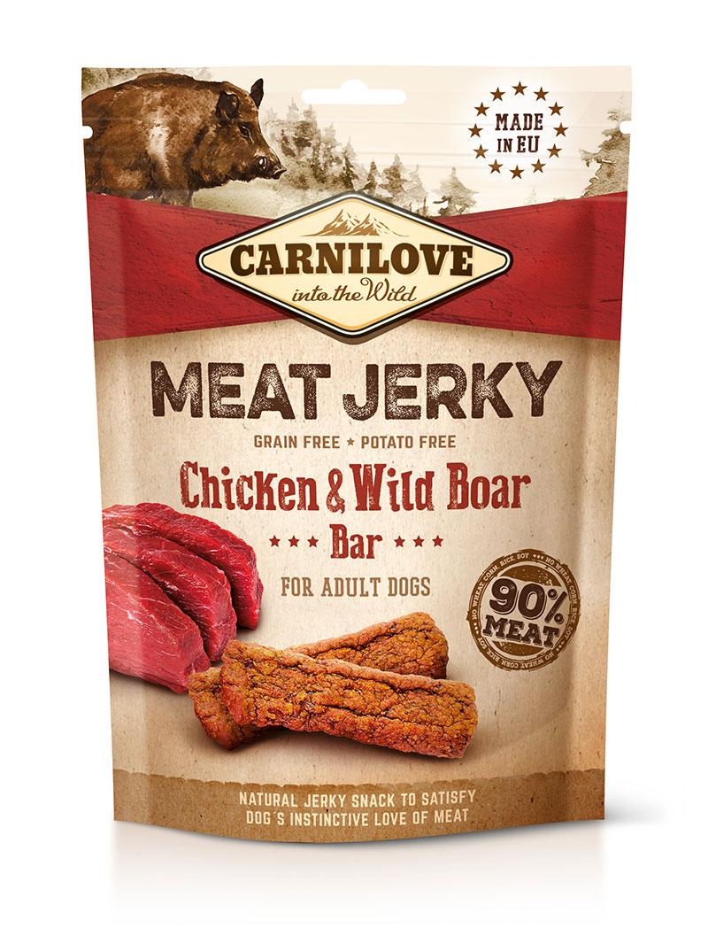 Carnilove Jerky Wild Boar & Chicken Bar 100 g prodejna