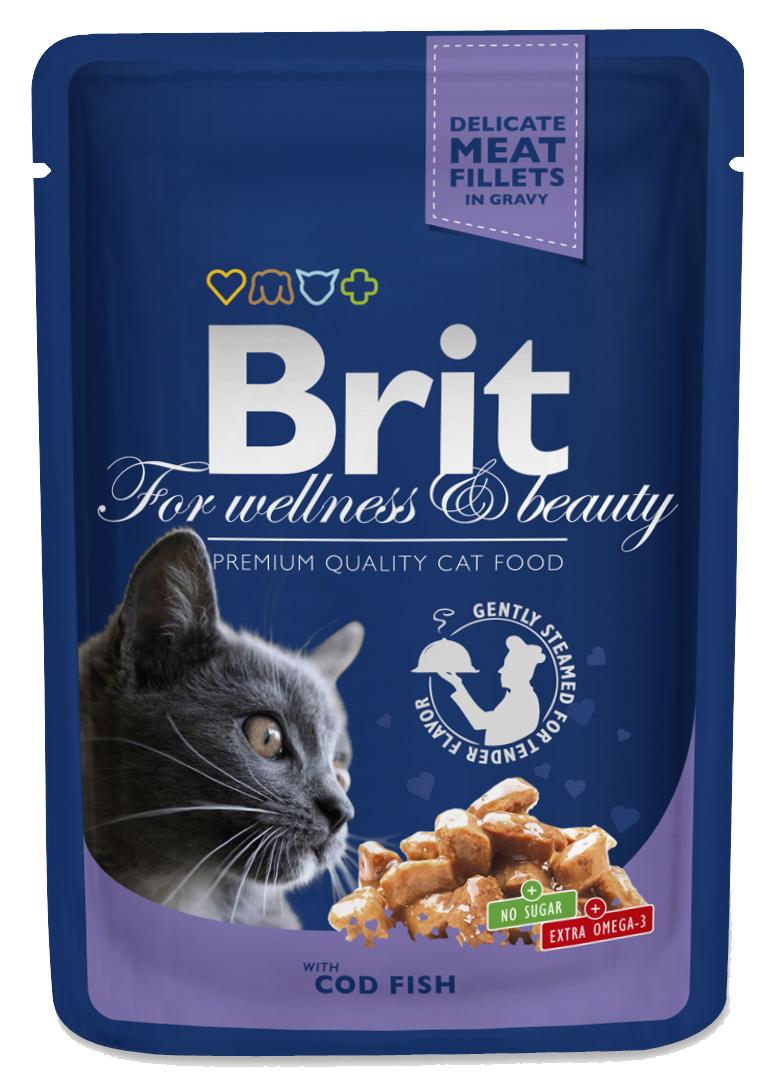 Brit Premium Cat Pouches s treskou 100 g 20+4 ZDARMA