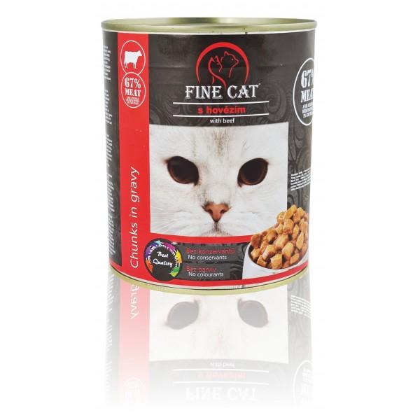 Fine Cat konzerva pro kočky s hovězím 830g