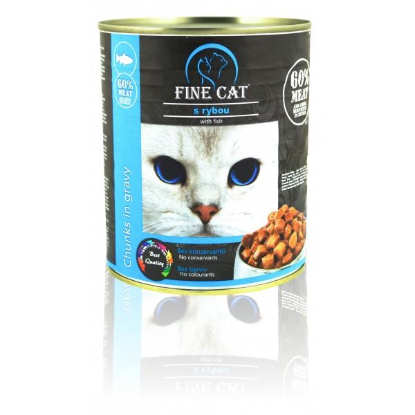 Fine Cat konzerva pro kočky s rybou 830g