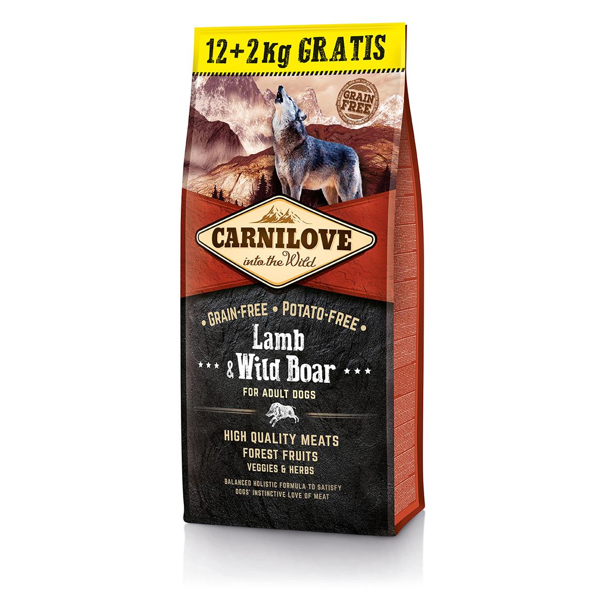 Carnilove Lamb & Wild Boar for adult 12 + 2kg ZDARMA
