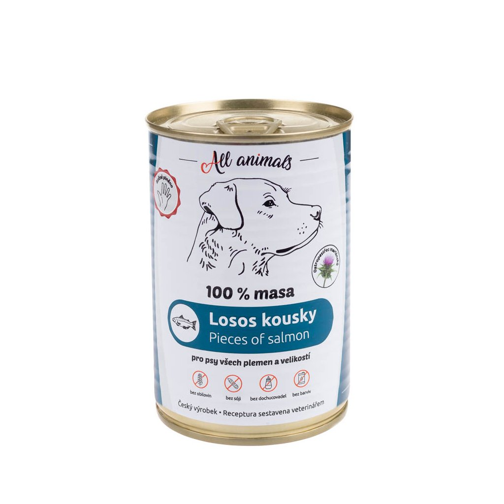 All Animals DOG losos kousky 400g
