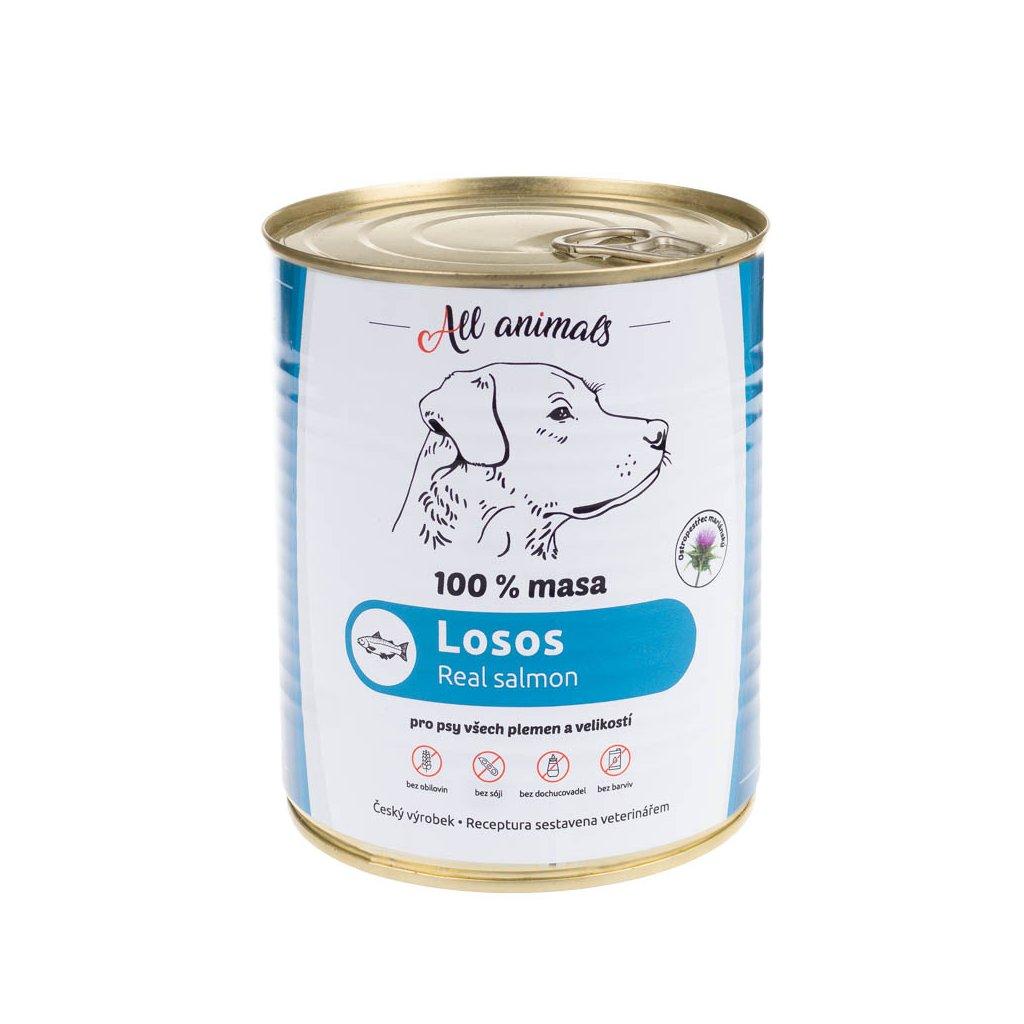 All Animals DOG losos mletý 800g
