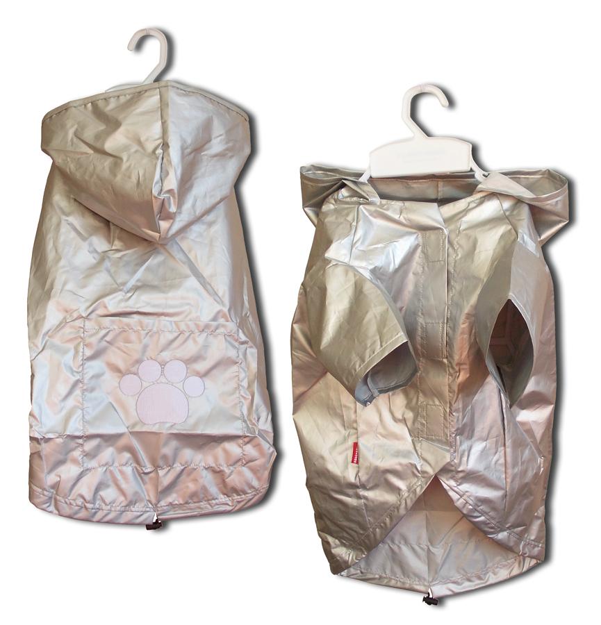 Kabátek Rain Coat 2 Legs Silver M