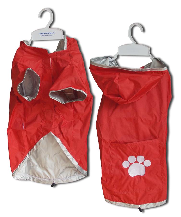 Kabátek Rain Coat 2 Legs Red M