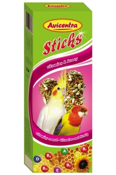 Avicentra tyčinky malý papoušek vitamíny + med 2ks