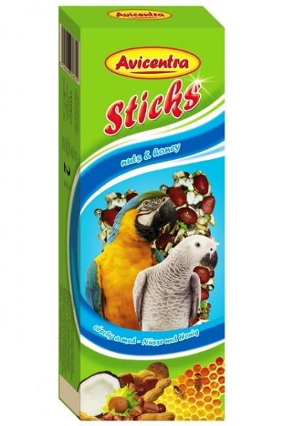 Avicentra tyčinky velký papoušek ořechová 2ks