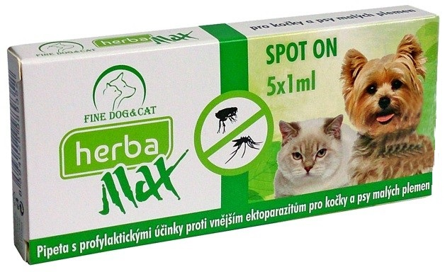 Herba MAX Spot-on Dog+Cat 5x1ml