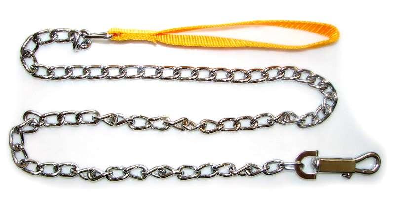 Vodítko řetěz s nylon. uchem 3mm x 120cm