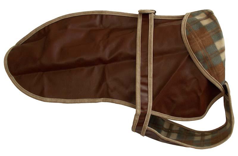 Kabátek umělá kůže 58cm