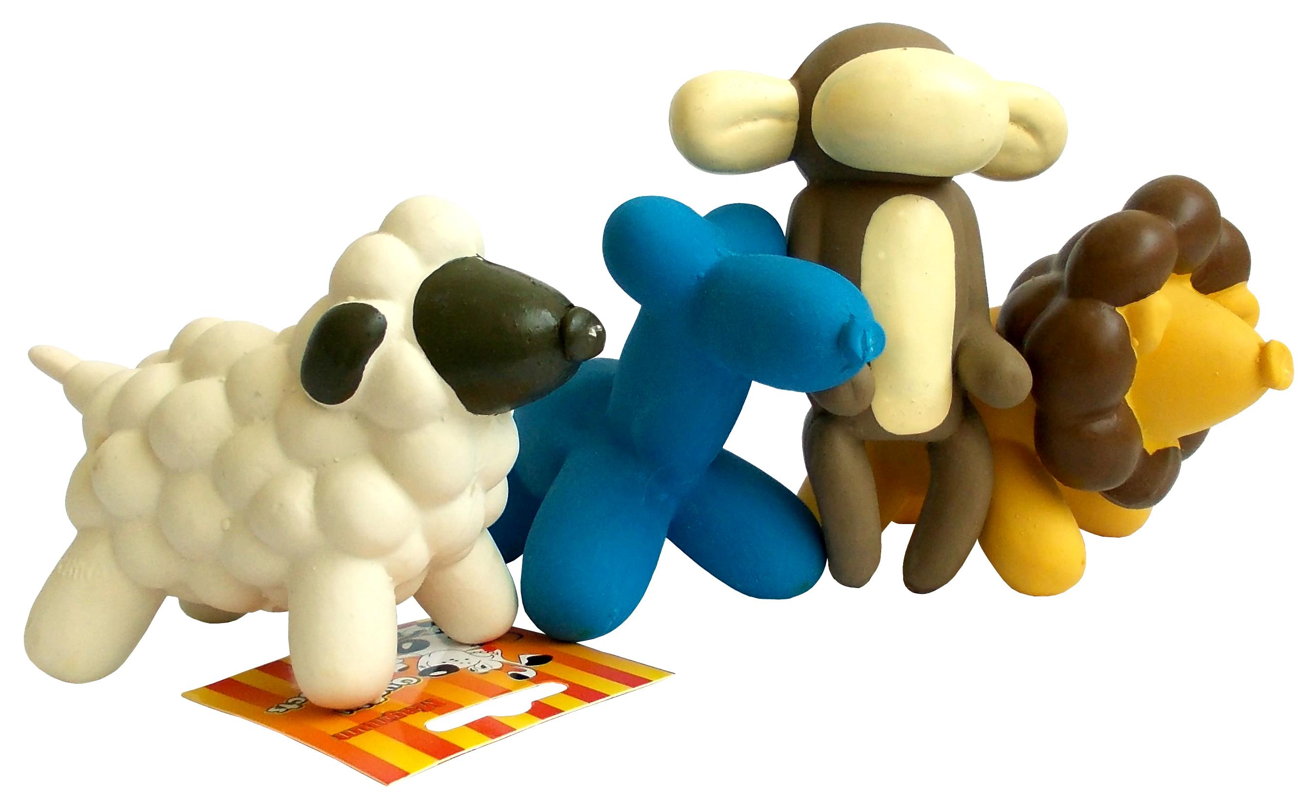 Hračka mini latex 24cm (pes,opice,ovečka,lvíček)