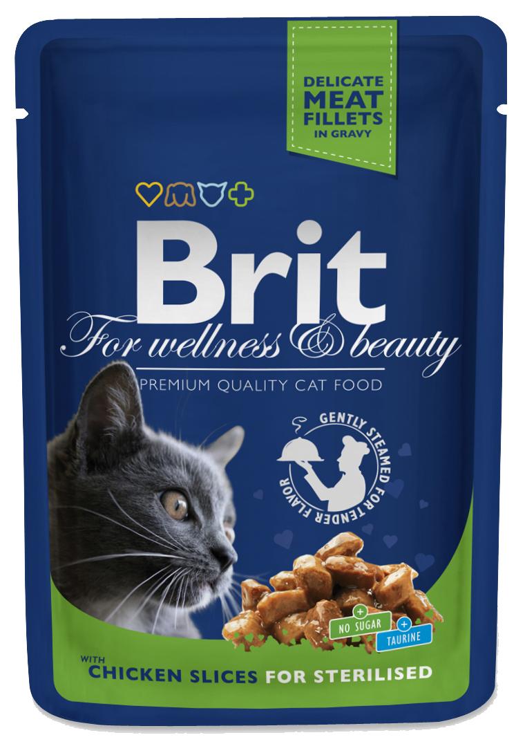 Brit Premium Cat Pouches kuřecí kousky pro KASTROVANÉ 100g