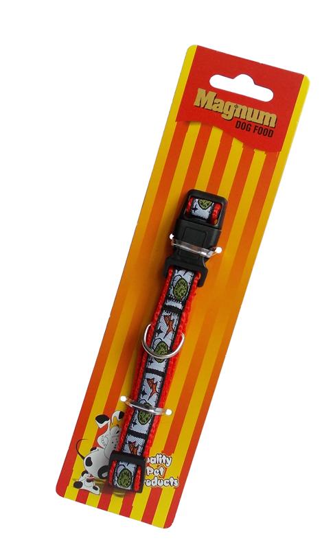 Obojek pro psy červený 15mm x 25-40cm