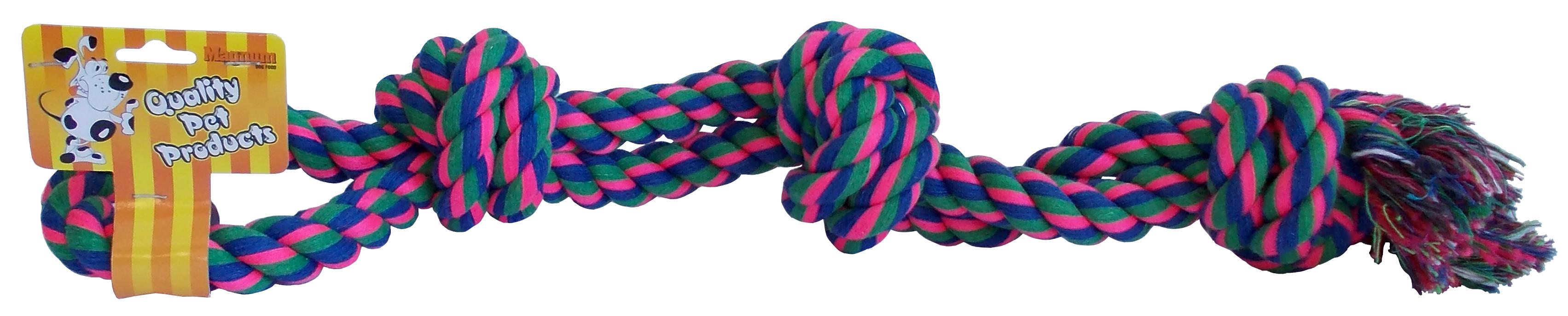 Trojitý uzel bavlna double 43cm