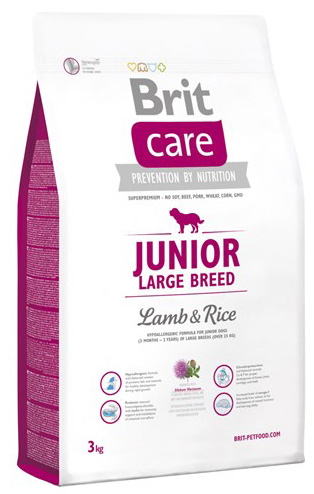 NEW Brit Care Junior Large Breed Lamb & Rice 3kg