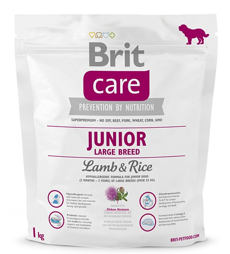NEW Brit Care Junior Large Breed Lamb & Rice 1kg