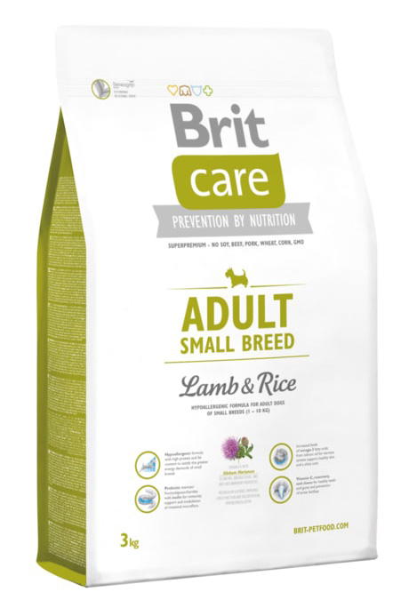 NEW Brit Care Adult Small Breed Lamb & Rice 3kg