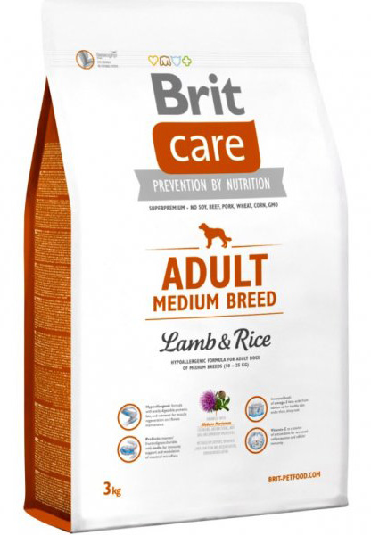 NEW Brit Care Adult Medium Breed Lamb & Rice 3kg