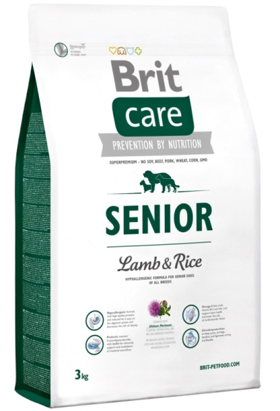 NEW Brit Care Senior Lamb & Rice 3kg