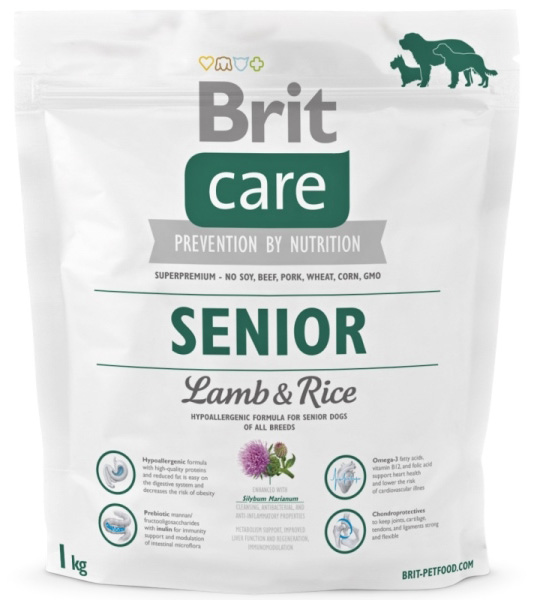 NEW Brit Care Senior Lamb & Rice 1kg