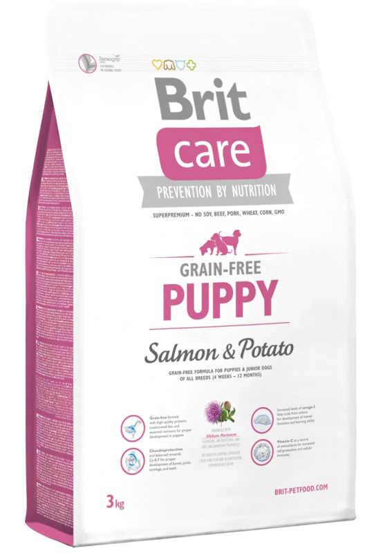 NEW Brit Care Grain-free Puppy Salmon & Potato 3kg
