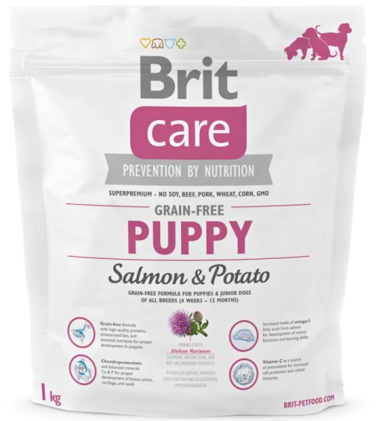 NEW Brit Care Grain-free Puppy Salmon & Potato 1kg