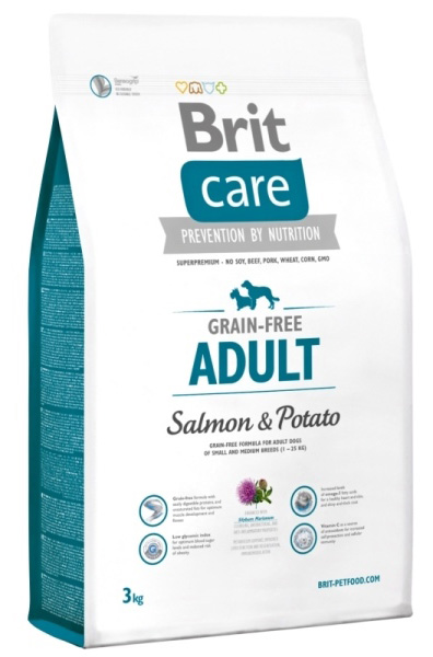 NEW Brit Care Grain-free Adult Salmon & Potato 3kg