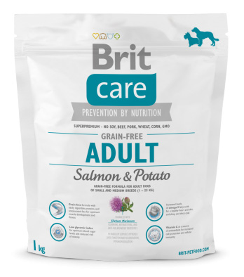 NEW Brit Care Grain-free Adult Salmon & Potato 1kg