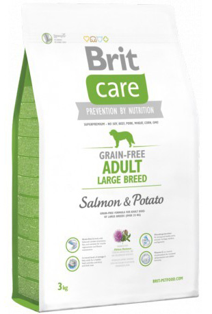 NEW Brit Care Grain-free Adult Large Breed Salmon & Potato 3kg