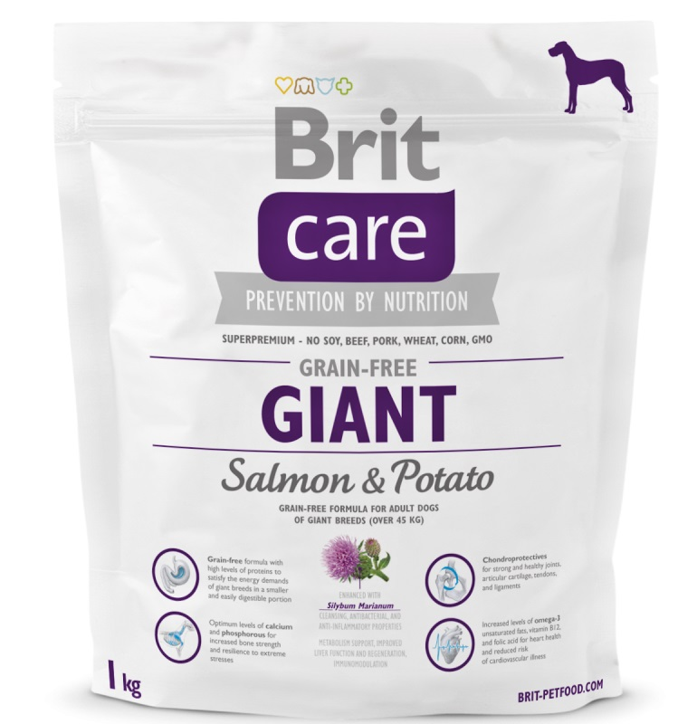 NEW Brit Care Grain-free Giant Salmon & Potato 1kg