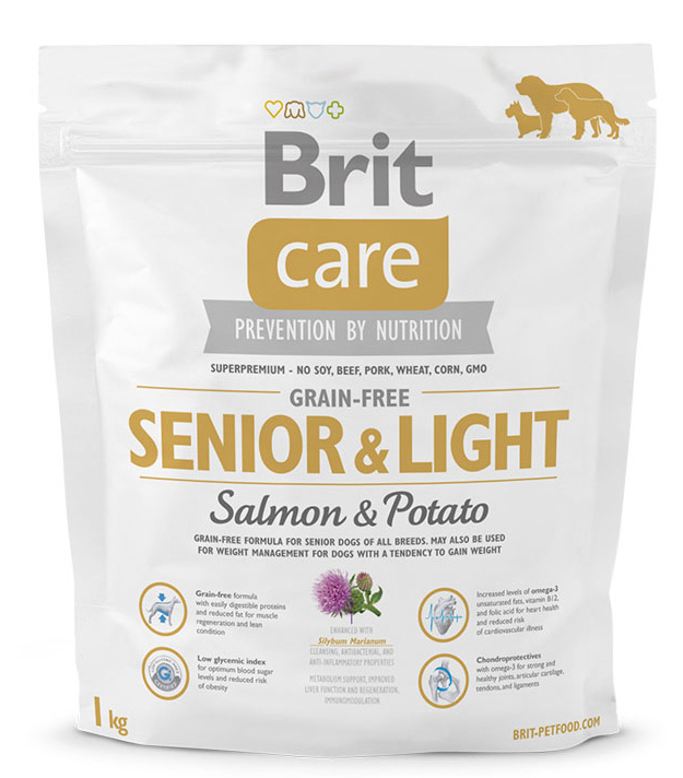 NEW Brit Care Grain-free Senior & Light Salmon & Potato 1kg