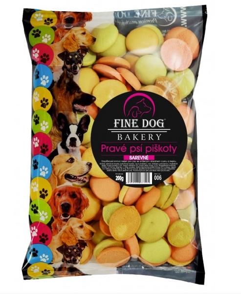 Fine Dog MIX Piškoty barevné 200g
