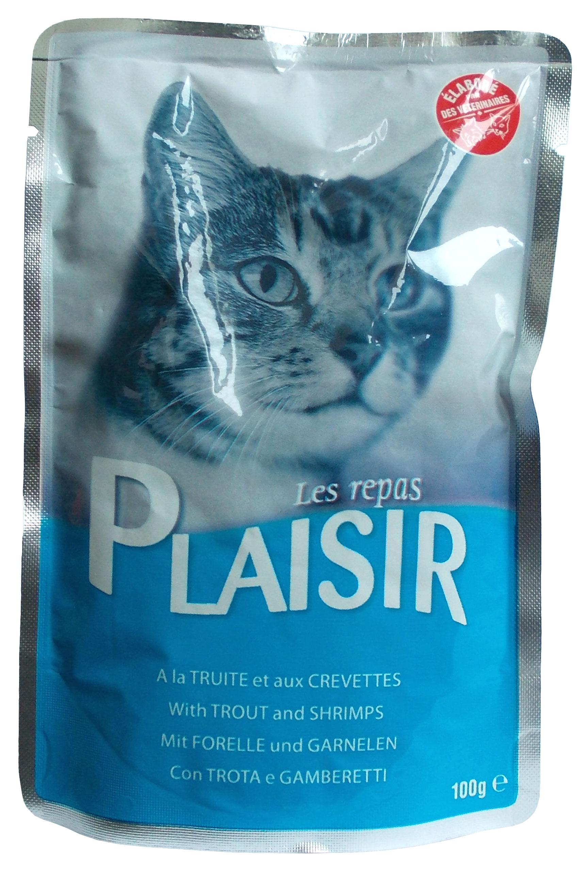 Plaisir Cat kapsička pstruh + krevety 100g
