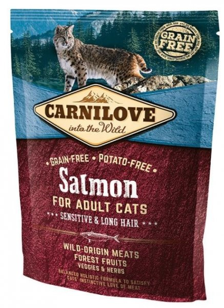 Carnilove CAT Salmon for Adult Cats - Sensitive & Long Hair 400g