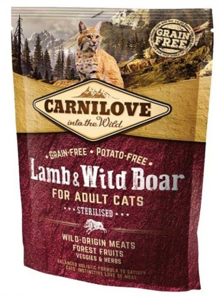 Carnilove CAT Lamb & Wild Boar for Adult Cats - Sterilised 400g