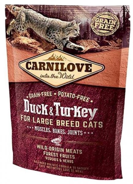 Carnilove CAT Duck & Turkey for Adult Large Cats 400g