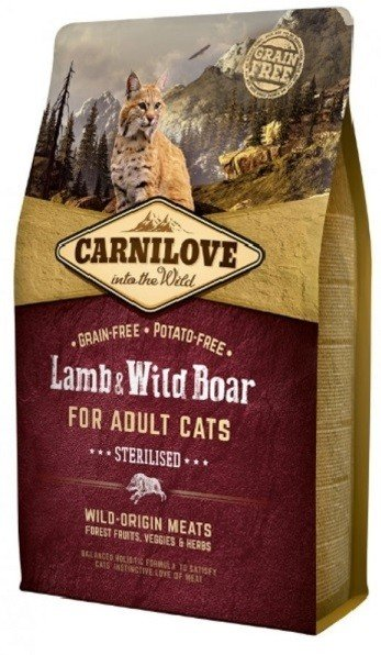 Carnilove CAT Lamb & Wild Boar for Adult Cats - Sterilised 2kg