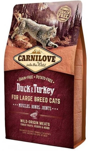 Carnilove CAT Duck & Turkey for Adult Large Cats 2kg