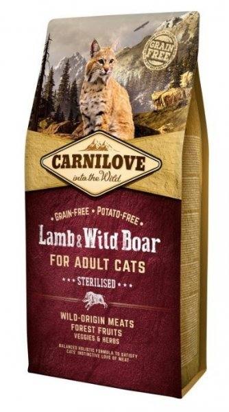 Carnilove CAT Lamb & Wild Boar for Adult Cats - Sterilised 6kg