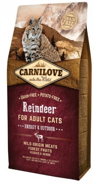 Carnilove CAT Reindeer for Adult Cats - Energy & Outdoor 6kg
