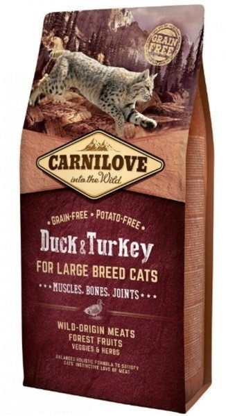 Carnilove CAT Duck & Turkey for Adult Large Cats 6kg