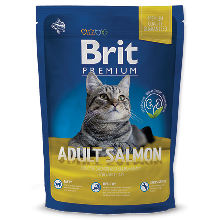 NEW Brit Premium Cat ADULT SALMON 300g